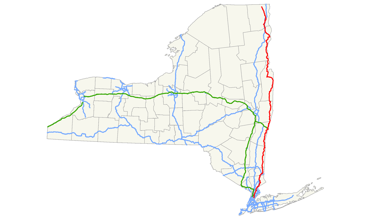 New York State Route Wikipedia - Road map new york