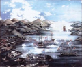 Nagasaki Harbour garasu-e (Hanao Hachimangu Yamaguchi).png