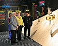 Narendra Modi and the German Chancellor, Ms. Angela Merkel at the Joint Inauguration of the India Pavilion and the Joint Walk-About Make in India, in Hannover (4).jpg