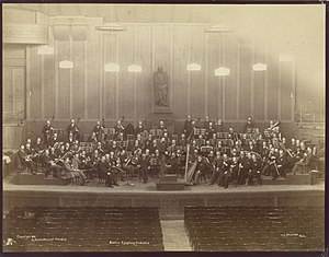 Boston Symphony Orchestra - The BSO at Boston Music Hall in 1891.