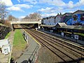 Natick Center station from outbound stairs, April 2016.JPG