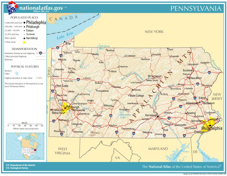 National-atlas-pennsylvania