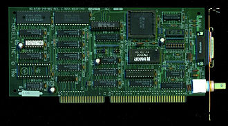Novell - Novell retained some hardware products even after NetWare became a success; here, a Novell NE2000 16-bit ISA 10Base-2 Ethernet card from 1990