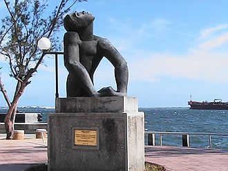 Edna Manley - The sculpture Negro Aroused by Edna Manley on Kingston Waterfront