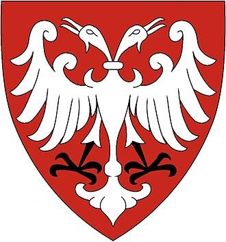 Battle of Velbazhd - Image: Nemanjić dynasty coat of arms, small, based on Palavestra