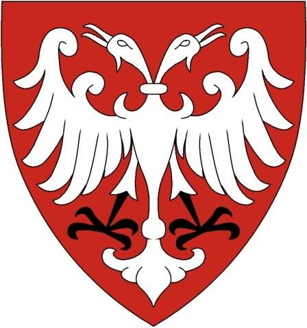 Nemanjić dynasty coat of arms, small, based on Palavestra