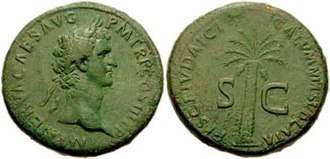 "History of early Christianity - Coin of Nerva ""The blackmail of the Jewish tax lifted"""