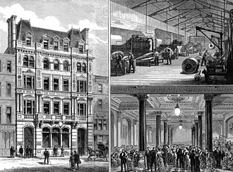 The Daily Telegraph - In 1882 The Daily Telegraph moved to new Fleet Street premises, which were pictured in the Illustrated London News.