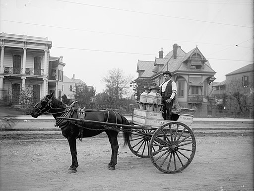 New Orleans Milk Cart Esplanade Ave