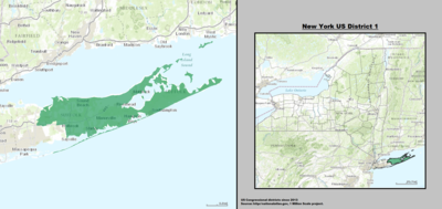 New York 's 1st congressional district - since January 3, 2013.