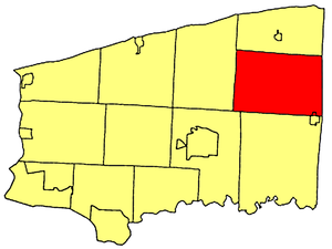 Hartland, New York - Location within Niagara County.