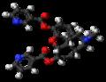 Nicomorphine molecule ball.png