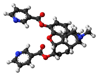 Nicomorphine - Image: Nicomorphine molecule ball