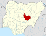 Map of Nigeria highlighting Plateau State