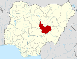 Location of Plateau State in Nigeria