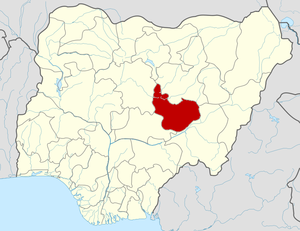 2014 Jos bombings - Image: Nigeria Plateau State map