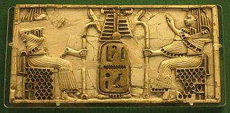Nimrud ivories - Plaque made in Egypt