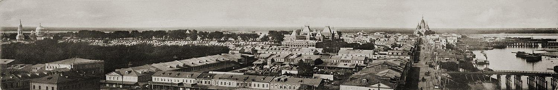 Панорама Нижегородской ярмарки. М. П. Дмитриев