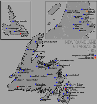 Newfoundland and Labrador general election, 2007 - Riding-by-riding results