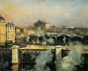 Le Pont de l'Europe et la Gare Saint-Lazare en travaux
