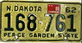 North Dakota 1965 license plate - Number 168-761.jpg