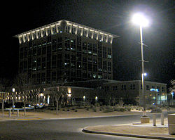 North Las Vegas City Hall at night