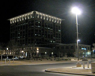 North Las Vegas, Nevada - North Las Vegas City Hall at Night, February 2013