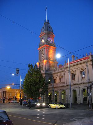 North Melbourne, Victoria - Former Hotham (North Melbourne) Town Hall and Errol Street