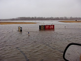 Norwood Memorial Airport - Flooding at the airport, 2010