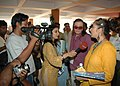 Noted actress Manisha koirala interacting with the media at kala Academy during the ongoing 37th International Film Festival (IFFI-2006) in Panaji, Goa on November 29, 2006.jpg