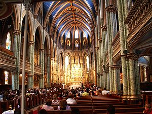 Freedom of religion in Canada - Interior of Notre-Dame Cathedral Basilica in Ottawa