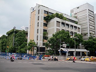 National Taipei University of Technology - NTUT Design Building, viewed from the intersection of Zhongxiao East Rd. and Xinsheng South Rd. before the completion of the Green Gate
