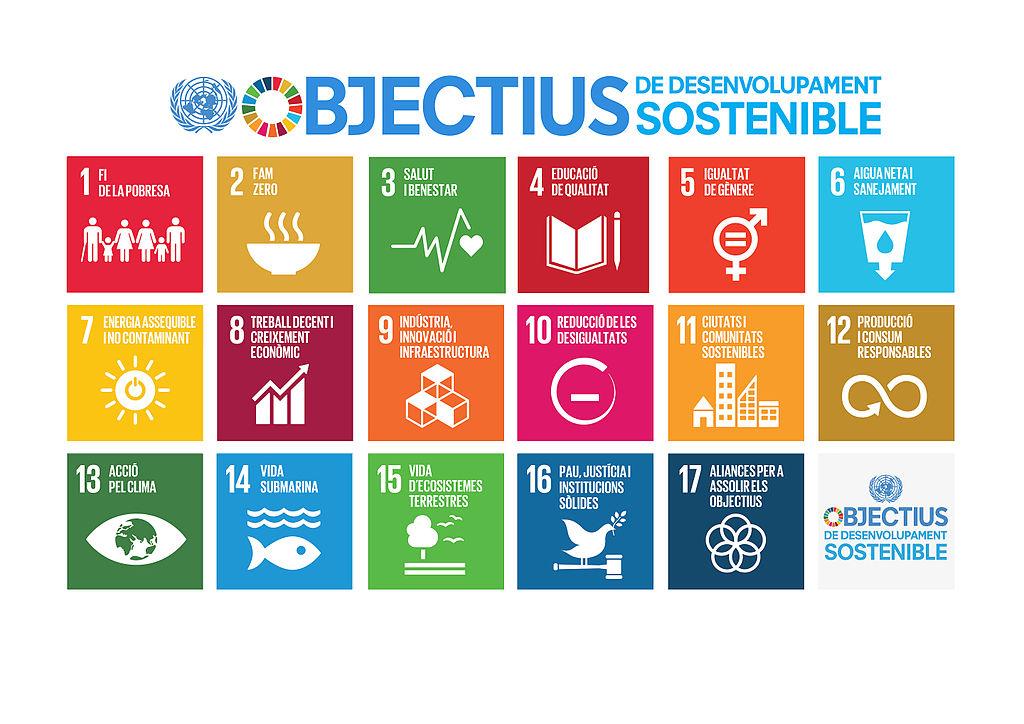 ODS Objectius Desenvolupament Sostenible Respon.cat SDG Icons CAT Poster A4