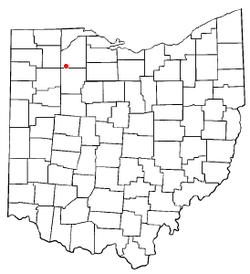 Location of Hoytville, Ohio