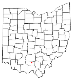 Location of Waverly, Ohio