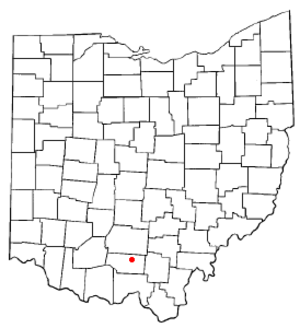 Waverly, Ohio - Image: OH Map doton Waverly