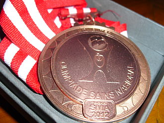 Indonesia National Science Olympiad - An OSN bronze medal for computer sciences, awarded in 2012.