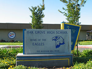 Oak Grove High School (San Jose, California) - Oak Grove High School memorial