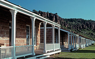 Jeff Davis County, Texas - Officers Row at Fort Davis National Historic Site