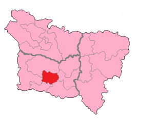 Oise's 7th constituency - Oise's 7th Constituency shown within Picardie.
