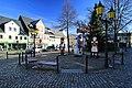 Olbernhau, Die Maskottchen am Markt. 2H1A0482WI.jpg
