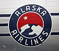 Old Alaska Airlines logo on a DC-3 (6194350906).jpg