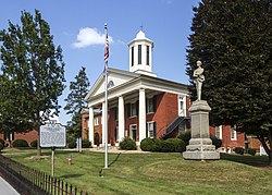 Old Clarke County Courthouse and Confederate monument