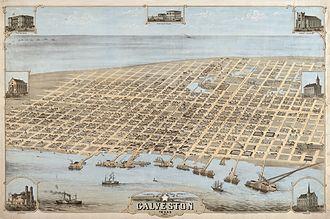 1871 Atlantic hurricane season - Galveston in 1871