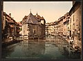 Old palace and canal, Annecy, France-LCCN2001697554.jpg