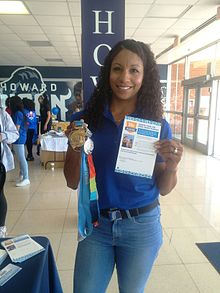 Olympic Medalist Maritza Correia takes the Pledge (25899205524).jpg