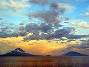 Volcanes Maderas y Concepción en la Isla Ometepe