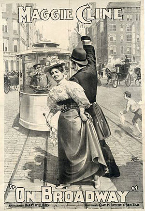Maggie Cline - Poster for On Broadway, 1896.