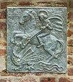Oorlogsmonument in muur van Sint Nicolaaskerk in Broekhuizen (Horst aan de Maas) in provincie Limburg in Nederland 03.jpg