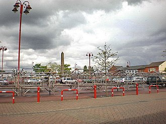 Listed buildings in St Helens, Merseyside - Image: Open air market, Earlestown geograph.org.uk 1314749